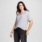 Mossimo Women's Striped Short Sleeve Knit Dolman T-Shirt Black & White