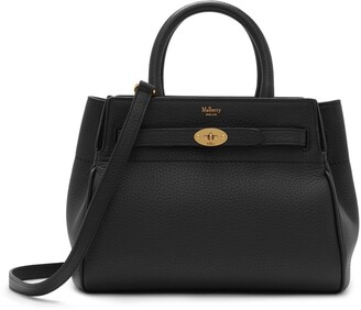 Mulberry Small Belted Bayswater Black Heavy Grain