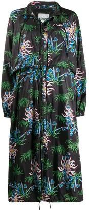 Kenzo Floral Print Long Raincoat