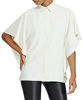Lauren Ralph Lauren Petite Draped Button-Up Top