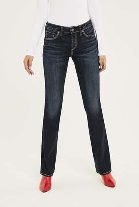 Silver Jeans Silver Avery Slim Bootcut Jean In Dark Denim