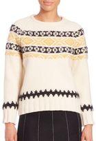 Suno Fairisle Crewneck Sweater