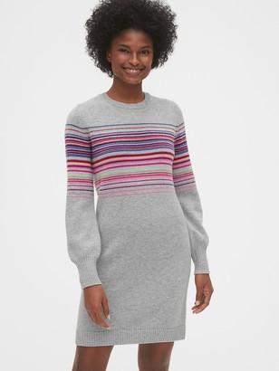 Gap Wool-Blend Crazy Stripe Sweater Dress