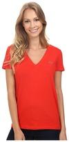 Lacoste Short Sleeve Cotton Jersey V-Neck Tee Shirt