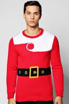 Boohoo Santa Claus Christmas Jumper