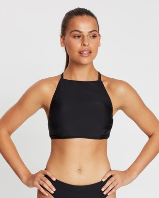 Fit Swimwear High Neck Halter Bikini Top