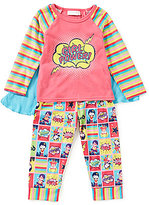 Sweet Heart Rose Little/Big Girls 2T-10 Girl Power Top, Printed Pants, & Cape Pajama Set