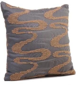 "Rennie & Rose Design Group Viceroy Throw Pillow & Rose Design Group Size: 17"" H x 17"" W x 4"" D, Color: Sandstone"