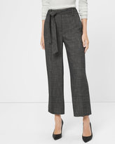 White House Black Market Novelty Wide-Leg Crop Pants