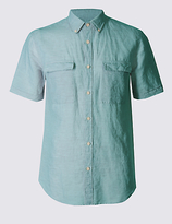 Limited Edition Linen Rich Slim Fit Shirt with Pockets