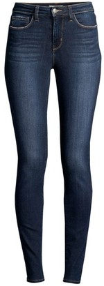 L'Agence Marguerite Mid-Rise Skinny Distressed Jeans