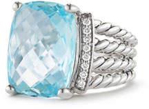 David Yurman Wheaton Ring with Blue Topaz and Diamonds