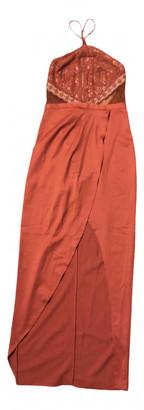 Style Stalker Orange Cotton Dress for Women