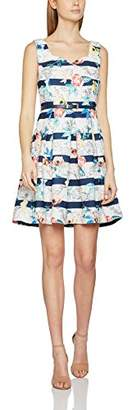 Yumi Floral Map Belted Dress