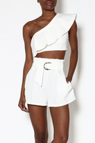 Ecru White One-Shoulder Top