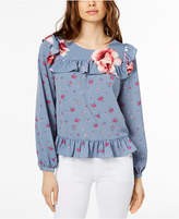 Jill Stuart Floral-Print Ruffled Top, Created for Macy's