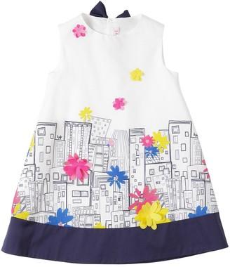 Il Gufo City Printed Cotton Poplin Dress