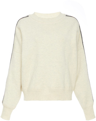 Etoile Isabel Marant Kaoli Intarsia-Trimmed Stretch-Jersey Sweatshirt