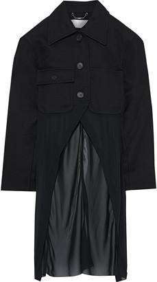 Chloé Chiffon-paneled Wool-blend Twill Jacket