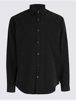 M&S Collection Luxury Soft Touch Paisley Print Shirt