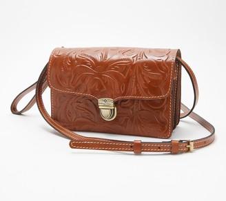 Patricia Nash Leather Crossbody Bag - Bianco