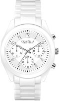Bulova Caravelle New York by Women's Chronograph White Ceramic Bracelet Watch 36mm 45L145