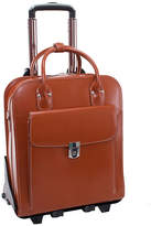 "McKlein McKleinUSA La Grange 15.4"" Leather Vertical Detachable -Wheeled Laptop Briefcase"
