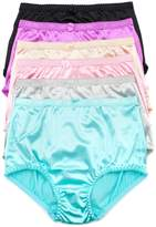 Barbra Lingerie Barbra's 6 Pack Sateen Full Coverage Women's Brief Panties