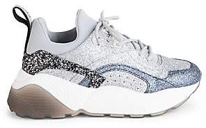 Stella McCartney Women's Eclypse Chunky Lace-Up Glitter Sneakers