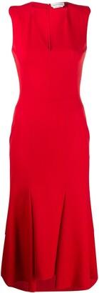 Alexander McQueen asymmetric v-neck dress