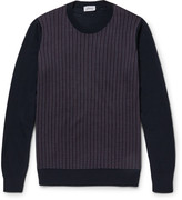 Brioni - Jacquard-knit Silk, Wool And Cashmere-blend Sweater