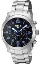 Fossil Men's FTW10041 'Q54 Pilot' SmartWatch LED Notifications and Tracking Chronograph Stainless Steel Watch