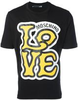 Love Moschino logo print T-shirt - men - Cotton - M