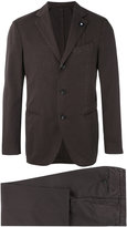 Lardini single breasted suit - men - Cotton/Silk/Polyester/Polyamide - 48