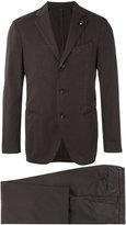 Lardini single breasted suit - men - Silk/Cotton/Polyamide/Polyester - 52