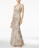 Tadashi Shoji Sleeveless V-Neck Lace Gown