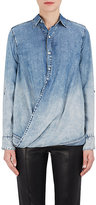 Blank NYC Blanknyc Women's Wrap-Front Denim Top