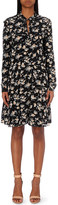 The Kooples Floral-print silk dress
