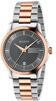 Gucci 'G-Timelss' Quartz Stainless Steel Automatic Watch, Color:Silver-Toned (Model: YA126446)