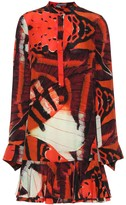 Alexander McQueen Butterfly-printed silk dress