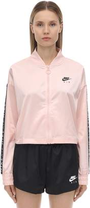 Nike Zip-up Satin Sweatshirt