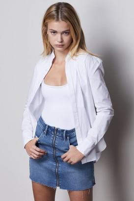 Good American Mini Skirt Exposed Zipper