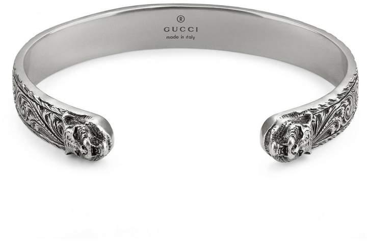 Gucci Jewel Bracelet Cat 10 Mm In Sterling Silver