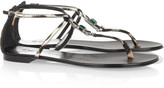 Giuseppe Zanotti Crystal-embellished calf hair sandals