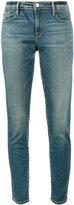 Frame Le Garcon Blue mid rise Straight Leg jeans