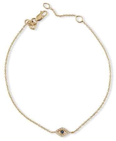 Sydney Evan Small Sapphire & Diamond Evil Eye Bracelet