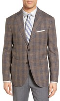 Santorelli Men's Classic Fit Plaid Loro Piana Wool Blend Sport Coat
