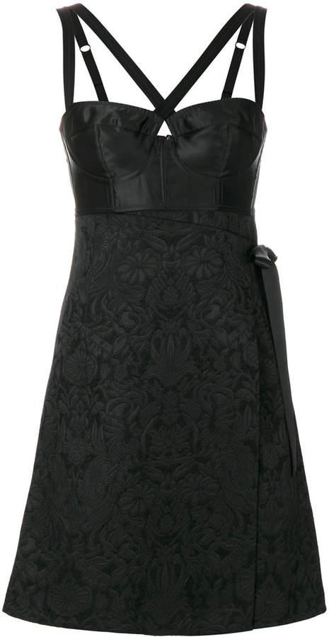 Dolce & Gabbana bustier jacquard dress