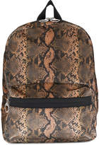 MM6 MAISON MARGIELA reptile skin print backpack
