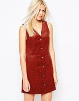 Monki Cord Button Detail Dress